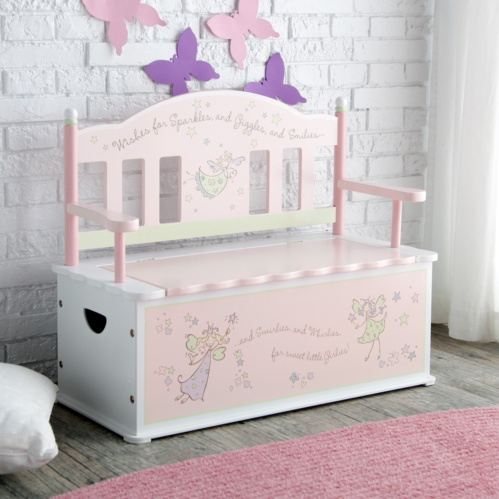 Wildkin Fairy Wishes Bench Seat with Storage by Wildkin