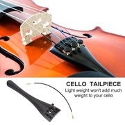 Cello Tailpiece 4/4 with Fine Tuners Aluminum Alloy Tailpiece with Tailgut Musical Instruments Accessories for 3/4 4/4 Cello