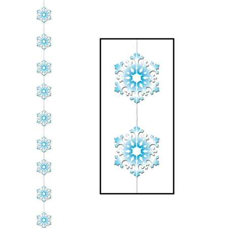 Club Pack of 12 Winter Wonderland Themed Snowflake Stringer Christmas Hanging Party Decorations - Theme Winter Wonderland