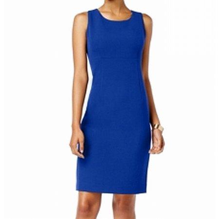 Kasper Cobalt Womens Scoop-Neck Crepe Sheath Dress](Marine Dress Blues)