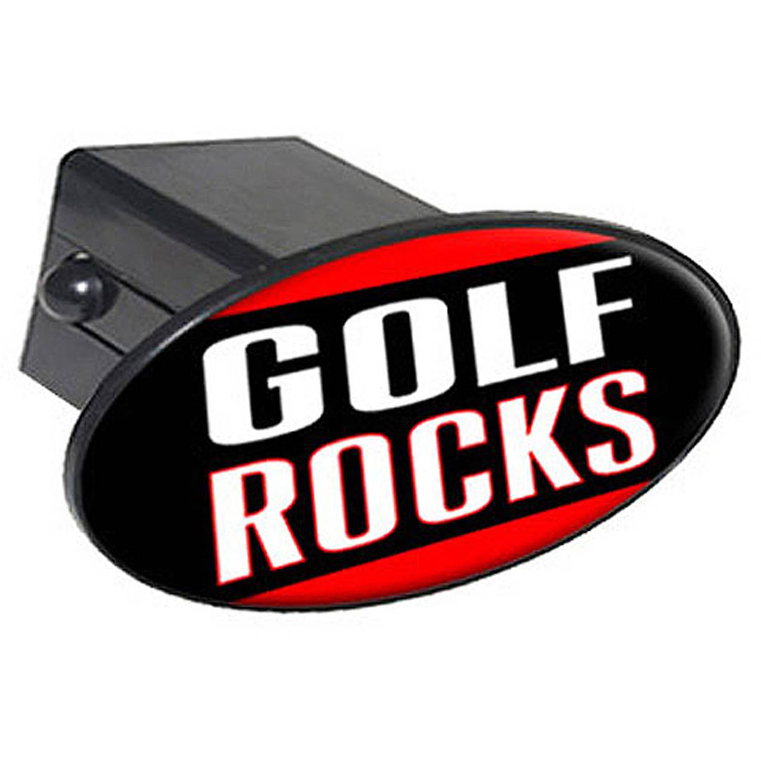 """Golf Rocks 2"""" Oval Tow Trailer Hitch Cover Plug Insert"""