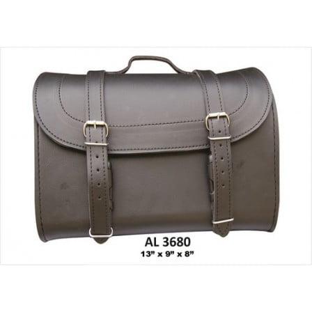 Motorcycle Heavy Duty Medium Travel Luggage Plain Soft Leather