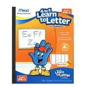 MEAD SEE AND FEEL LEARN TO LETTER W/ GUIDELINES 40CT GR PK-1