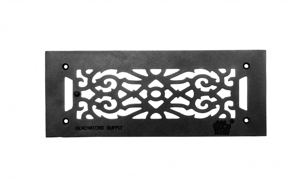 "Heat Air Grille Cast Victorian 5.5"" x 14"" Overall 