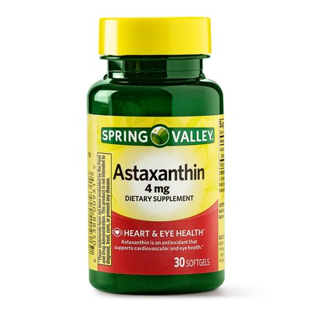 Spring Valley Astaxanthin Softgels - Heart & Eye Health 4 mg, 30 ct