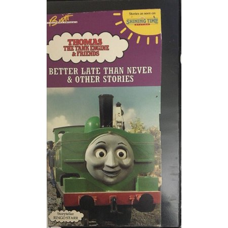 THOMAS THE TANK ENGINE & FRIENDS-BETTER LATE THAN NEVER & OTHERS(VHS,