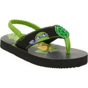 Tennage Mutant Ninja Turtles Toddler Boys' Beach Flip Flop