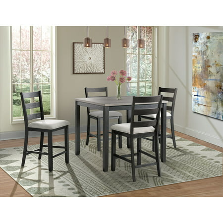 Picket House Furnishings Kona Gray 5-Piece Counter Height Dining Set-Table & Four Chairs 5 Piece Counter Height Table