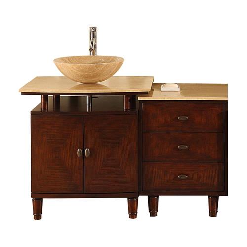Silkroad Exclusive Lydia 47'' Single Bathroom Vanity Set