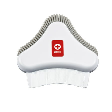 American Red Cross Dual-Action Cradle Cap Brush, Fine-Tooth Comb, and Easy-To-Hold Baby Scalp Massager Baby Cradle Kit