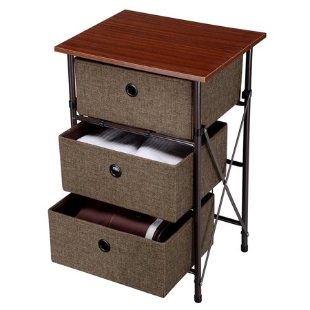 Iron Framed Nightstands End Table With Removable Drawers Easy Assemble Storage Drawer Dresser Organizer Unit Walmart Canada