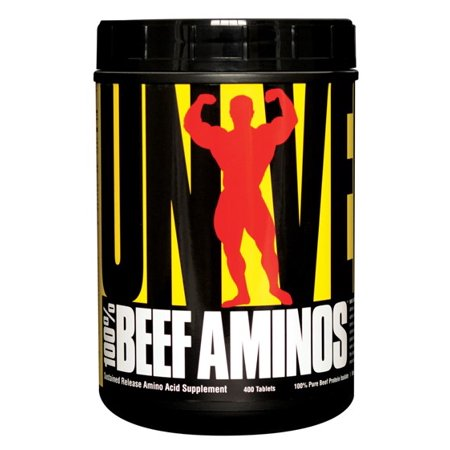Universal Nutrition 100  Beef Aminos Dietary Supplement  400 Tablets
