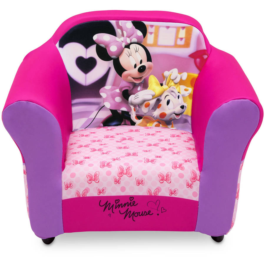 Disney Minnie Mouse Plastic Frame Upholstered Chair by Disney