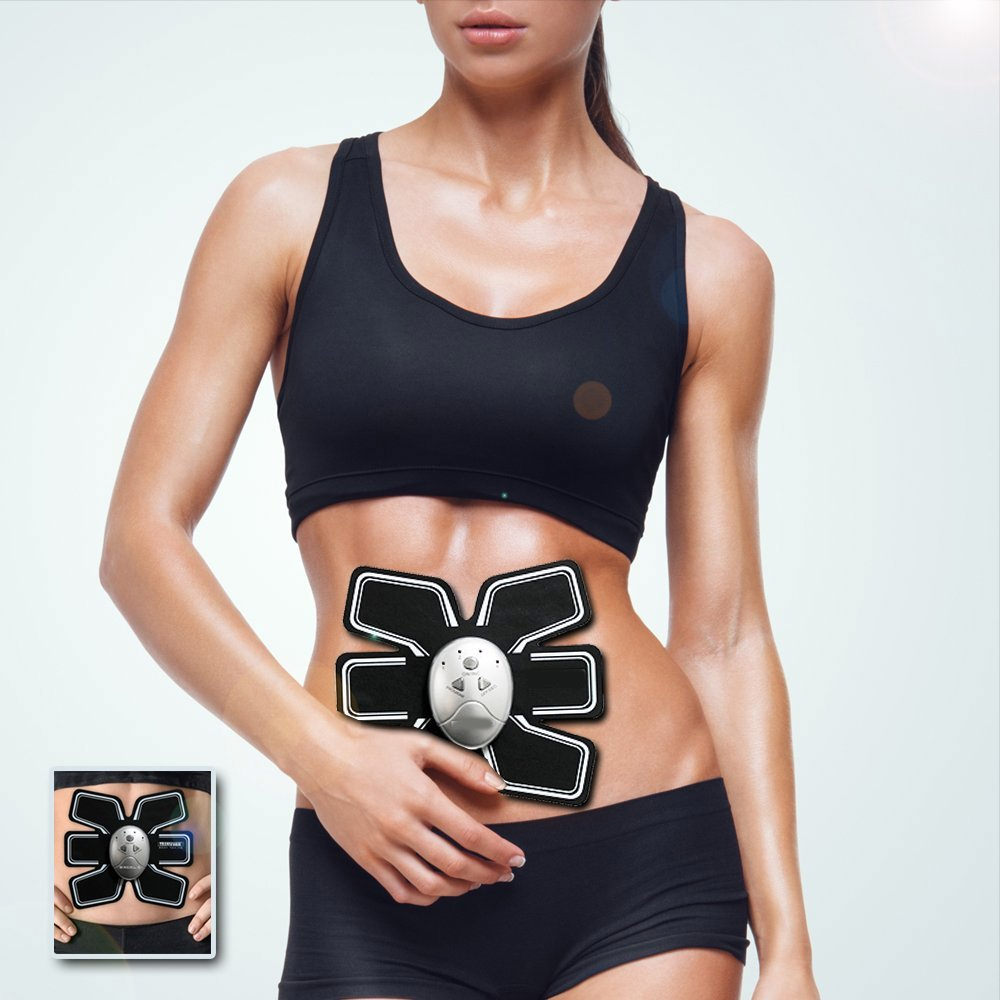 New Abs Belt Stimulator Machine Abdominal Muscle Toner Device Slimming Belt