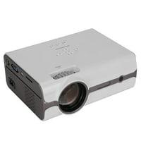 Tebru Portable Projector, Mini HD 1080P LED Portable Projector HDMI Home Theater USB Home Cinema US Plug, USB Home Theater