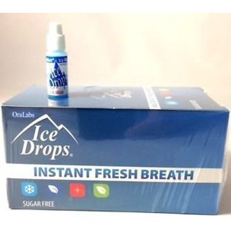 Oralabs Ice Drops Instant Fresh Breath Icy Mint Whole Box of 50 Cl Max Breath Box