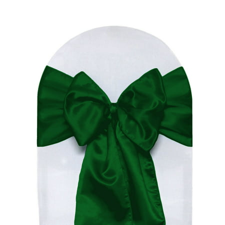 Fine Your Chair Covers Satin Sashes Hunter Green Pack Of 10 For Wedding Party Birthday Patio Etc Inzonedesignstudio Interior Chair Design Inzonedesignstudiocom