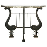 A&B Home French Chic Garden Marguerite Demilune Console Table