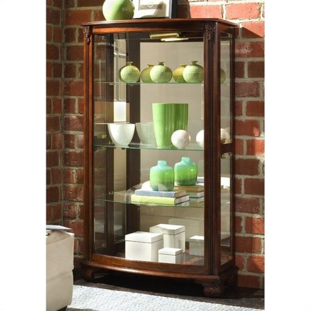 Cherry Carved Curio Cabinet - Pulaski Gallery Mantel Curio Cabinet