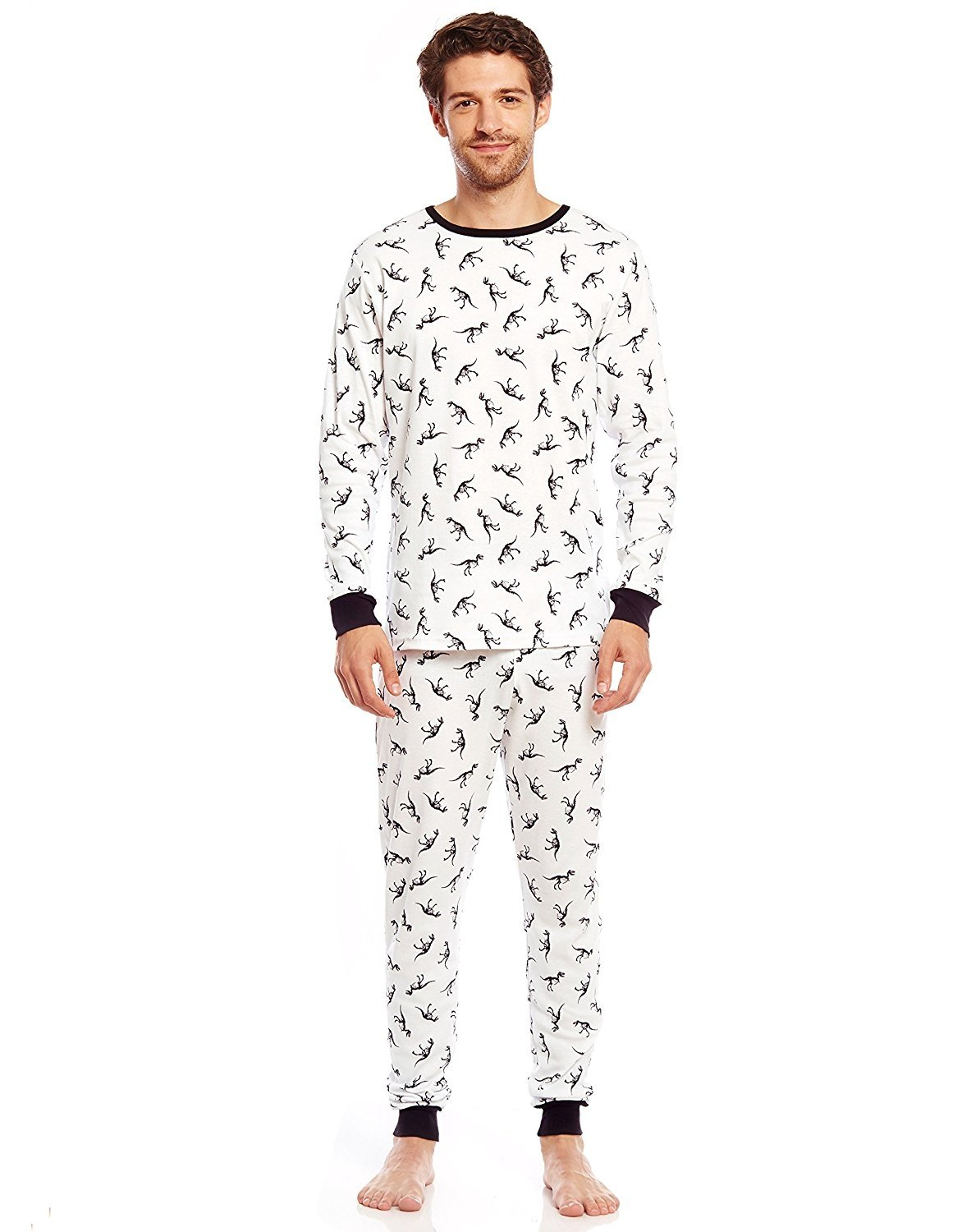 "Leveret Men's ""Fitted"" Printed Pajama Set 100% Cotton (Size X-Small-X Large)"