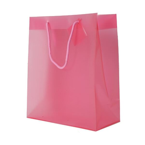 JAM Translucent Shopping Bag - 10 1/2 x 12 1/2 x 5 - Hot ...