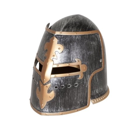 Silver Pewter Knight Roman Armor Crusader Helmet Mask Medieval Adult Costume (Armored Knight Costume)