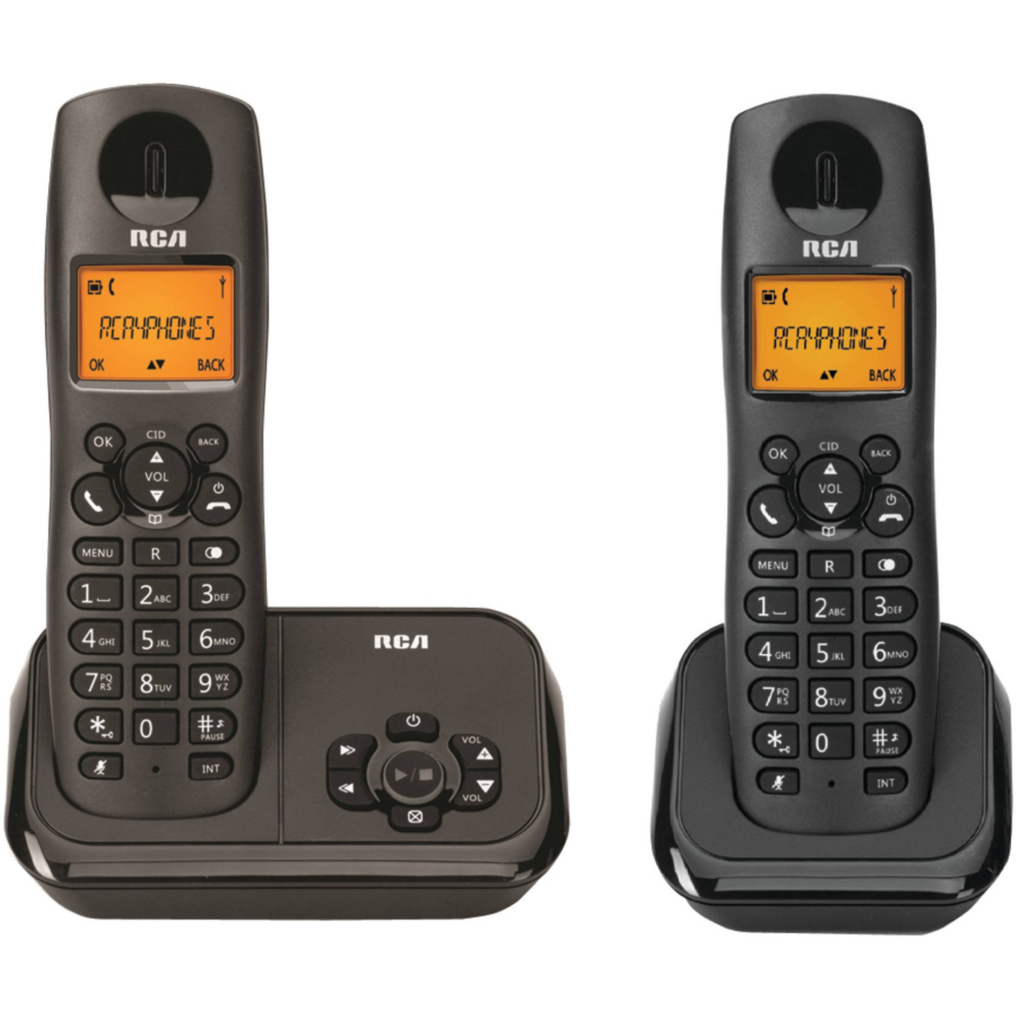 RCA 2162-2BKGA Element Series DECT 6.0 Cordless Phone with Caller ID and Digital Answering System 2-Handset System