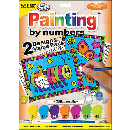 "My First Paint By Number Kit, 8-3/4"" x 11-3/8"", 2/pkg"