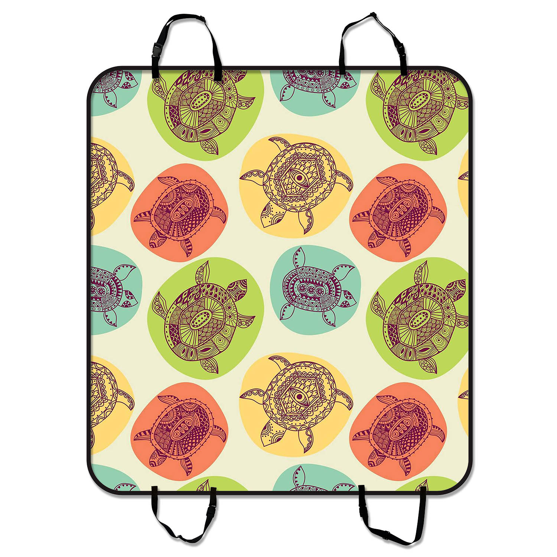 YKCG Animal Decor Sea Turtles Colorful Circle Pet Seat Co...