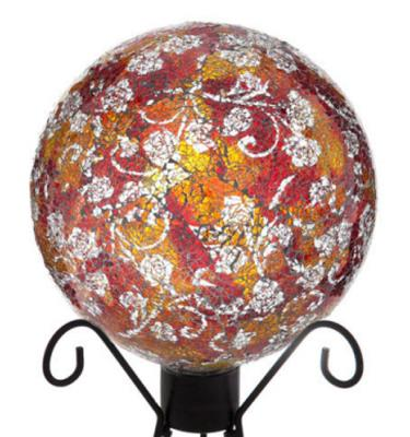 AMBER FLORAL Gazing Ball by Evergreen by