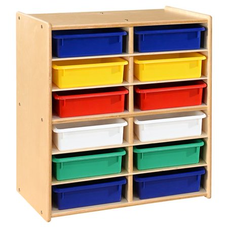 Wood Designs Contender 12 Compartment Cubby with Trays