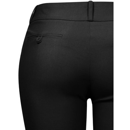 Made by Olivia Women's High Waist Comfy Stretchy Bootcut Trouser Pants