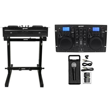 Gemini CDM-4000 2 Ch. Dual DJ Mixer Media Player w/