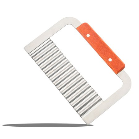 Fancyleo Wavy Edged Potato Knives Stainless Steel Potato Chip French Fry Slicer For Kitchen Vegetable Fruit Cutting Tool Kitchen Accessories 10 Granton Edge Slicer