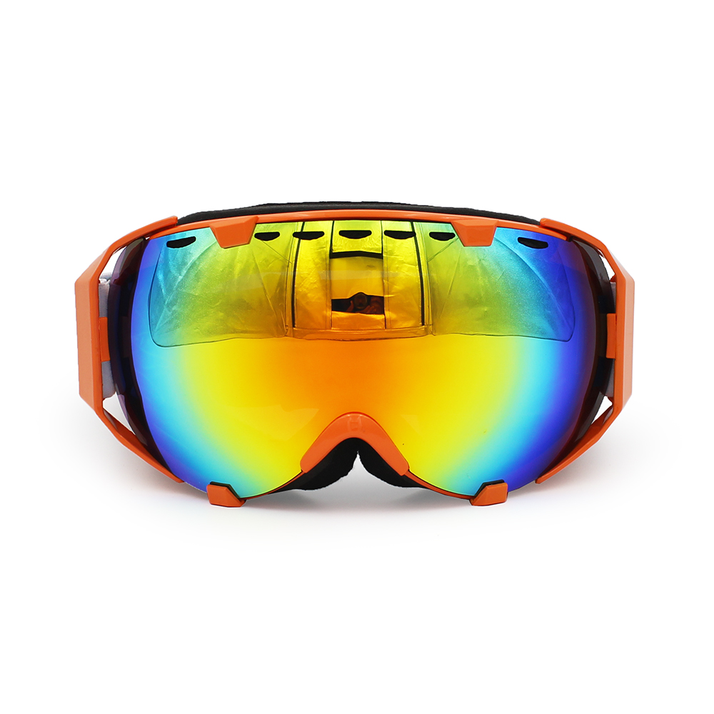 Ediors Windproof Snowmobile Ski Snow Goggles Eyewear Anti Fog Double Lens All Mountain   UV Protection (105-5, Revo Red) by Ediors