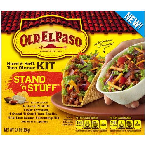 Old El Paso? Stand 'n Stuff? Hard & Soft Taco Dinner Kit 9.4 oz. Box