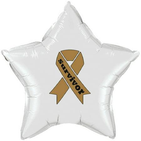 Partypro TQP-2154 Cancer Survivor Gold Ribbon Mylar Balloon - Survivor Decorations
