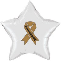Partypro TQP-2154 Cancer Survivor Gold Ribbon Mylar Balloon