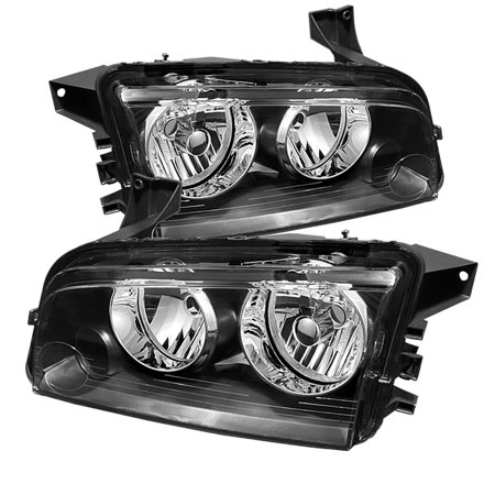 For 06-10 Dodge Charger TD Crystal Headlights (Black)