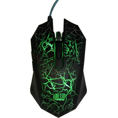 Adesso iMouse G3 Illuminated Gaming Mouse - Optical - Cable - USB - 2400 dpi - Computer - Scroll Wheel - 6 Button (s) - S