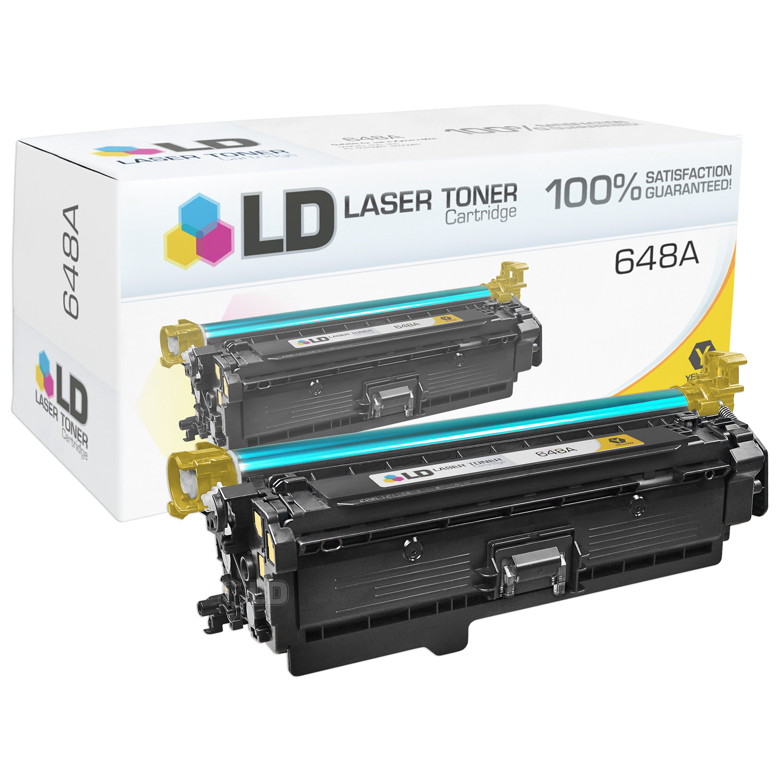 Remanufactured Yellow CE262A / 648A Laser Toner Cartridge for Hewlett Packard HP CP4025/CP4525