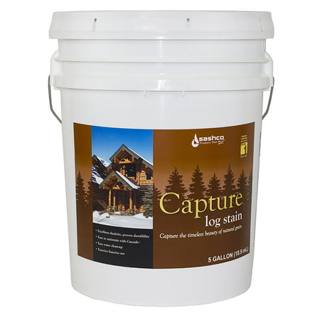 Sashco Capture Capture Log Stain, 5 Gallon Pail, Chestnut Pack of