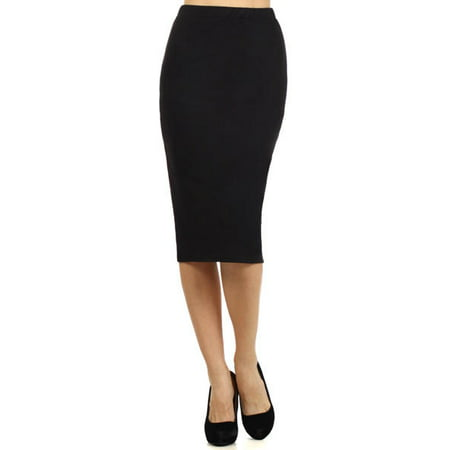 Pin Dot Pencil Skirt (Women's Trendy Style Solid Pencil Skirt )