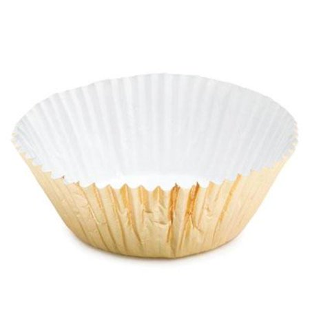 Gold Foil Mini Baking Cupcake Liners - 100 Count - Maximum baking temperature 325 - Gold Mini Cupcake Liners