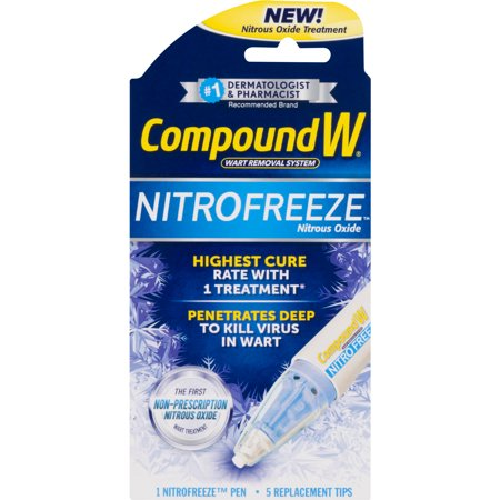 Compound W NITROFREEZE, Wart Removal, 1 Pen & 5 Replaceable (Best Genital Wart Removal Cream)