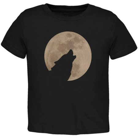 Wolf Howling Moon Silhouette Toddler T Shirt ()