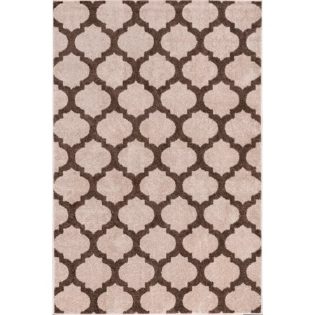 Tinsley Trellis Ivory & Beige Moroccan Lattice Modern Geometric Pattern 3 x 5 (3'3'' x 5') Area Rug Soft Shed Free Easy to Clean Stain Resistant ()