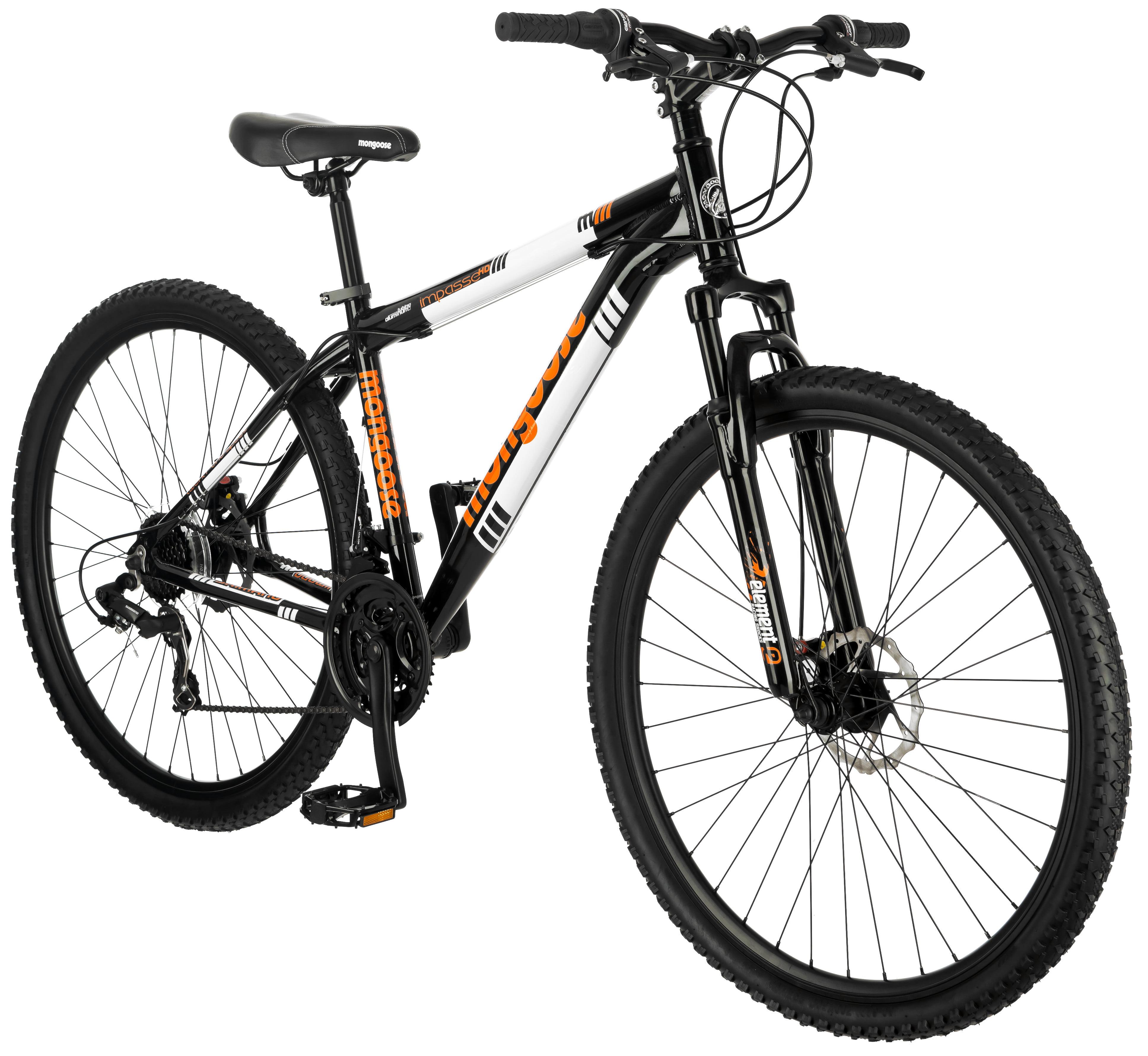 """29"""" Mongoose Impasse HD Men's Mountain Bike, Black/Orange"""