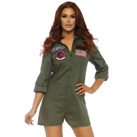Leg Avenue Womens Top Gun Flight Suit (Romper Suit)