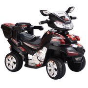 Costway 4 Wheel Kids Ride On Motorcycle 6V Battery Powered R C Electric Toy Power Bicyle Black by Costway